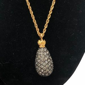 JOAN RIVERS GRAY FABERGE EGG NECKLACE